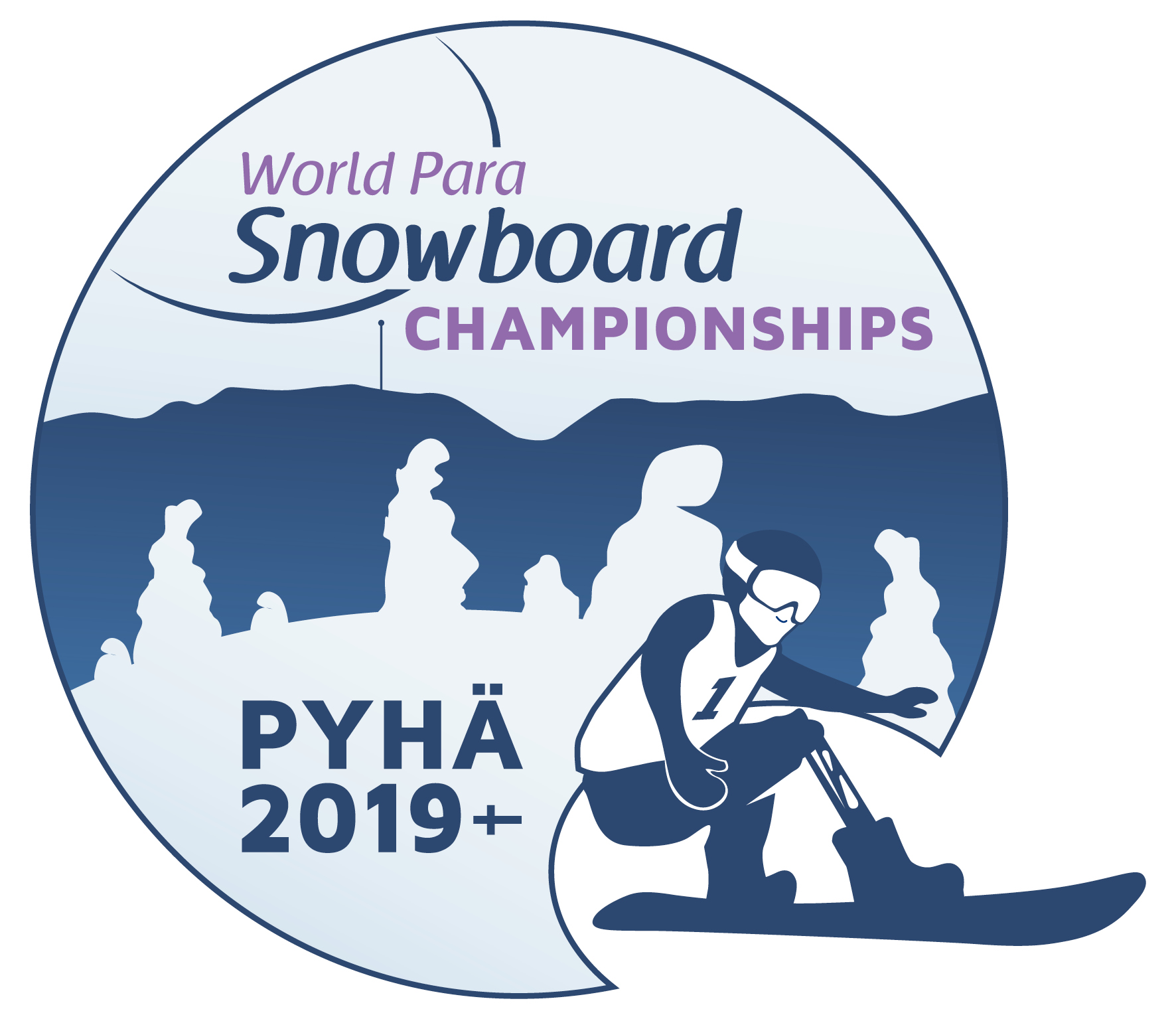 the official logo of the Pyha 2019 World Para Snowboard Championships