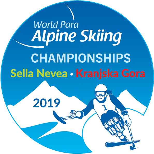 the official logo of the 2019 World Para Alpine Skiing Championships