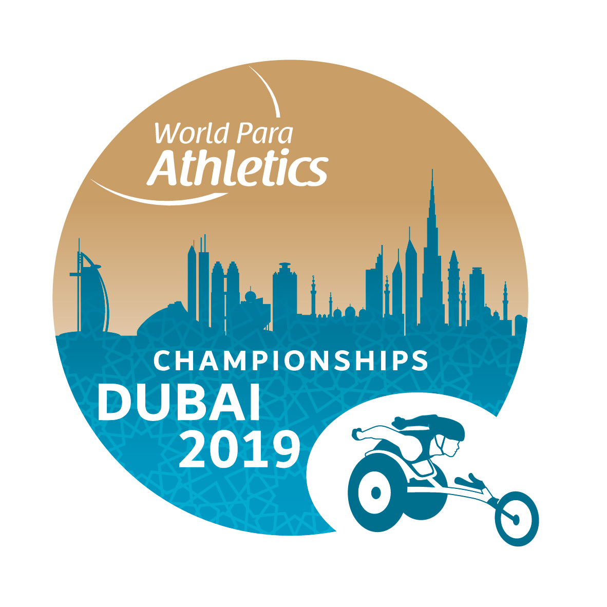 the official logo of the Dubai 2019 World Para Athletics Championships