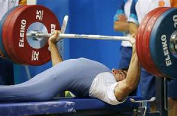 Athlete practicing Powerlifting