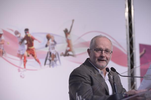 Sir Philip Craven addressing the London 2012 debrief