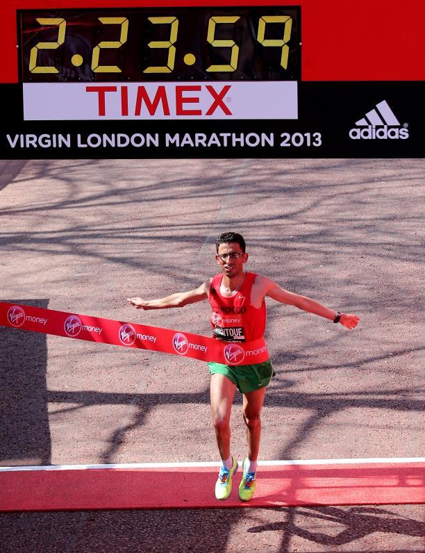 Morocco's El Amin Chentouf wins the 2013 IPC Athletics Marathon World Cup