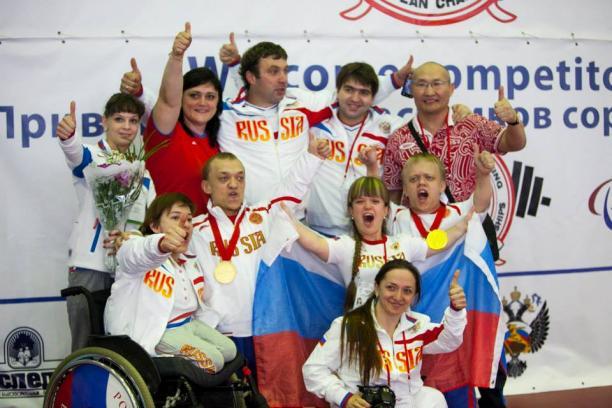 Russian powerlifting team