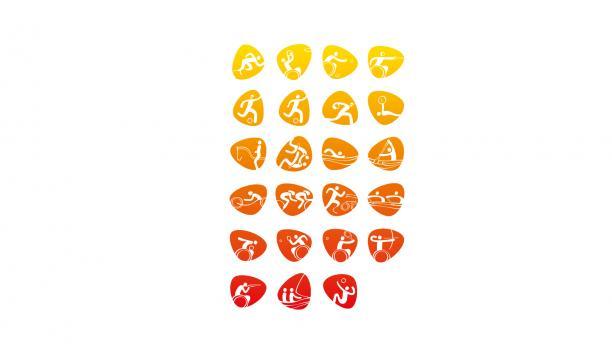 Rio 2016 sport pictograms