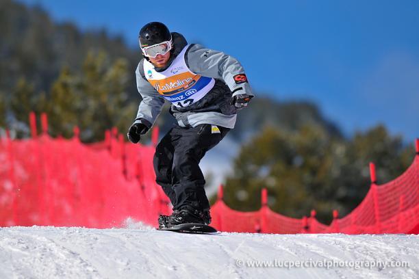 Training at the IPCAS Snowboard World Cup Finals La Molina, Spain