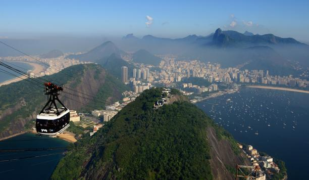 A stunning view of Rio from Sugar Loaf Mountain