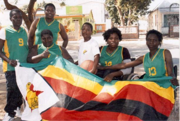 Zimbabwe wheelchair basketball team