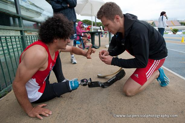 Germany's Rehm shows sportsmanship in fixing Turkey's Baris Telli's prosthetic to allow him to perform better
