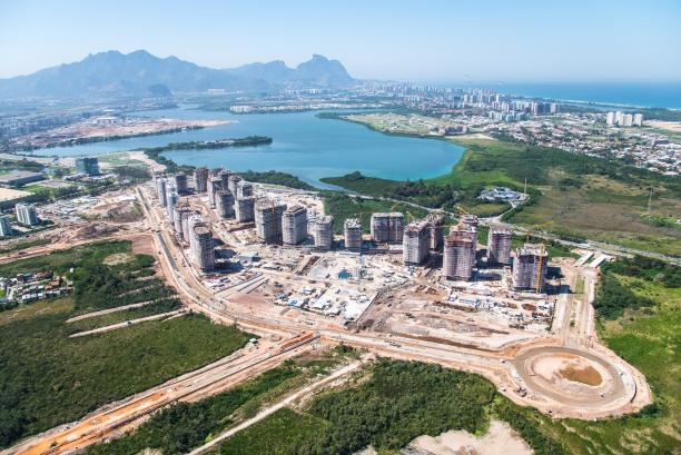 An aerial view of the Olympic and Paralympic Village for the Rio 2016 Paralympic Games.