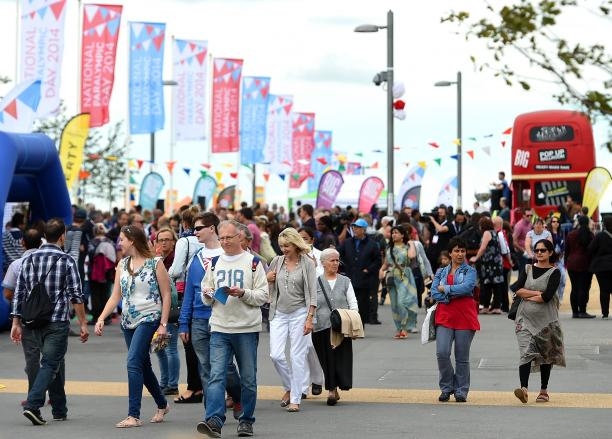 crowds during the National Paralympic Day at the Olympic Park