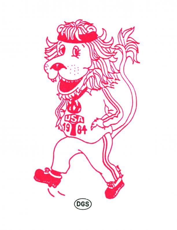 A sketched lion