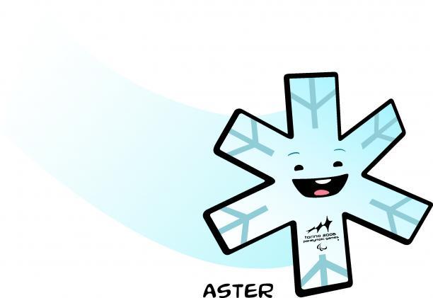 A smiling snowflake