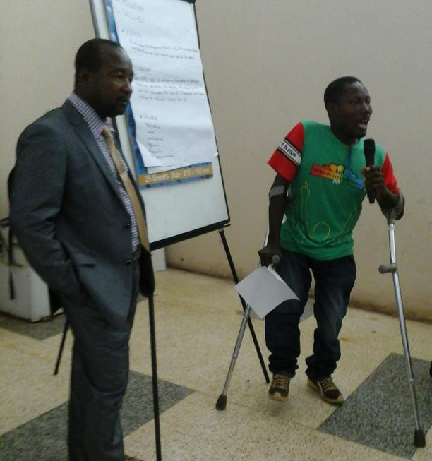 Athletes and representatives from the National Paralympic Committee in Sierra Leone gathered to develop a strategic plan.