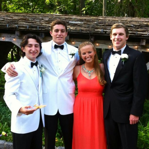 US para-swimmer Ian Silverman (second from the left) with his best friends at high school prom