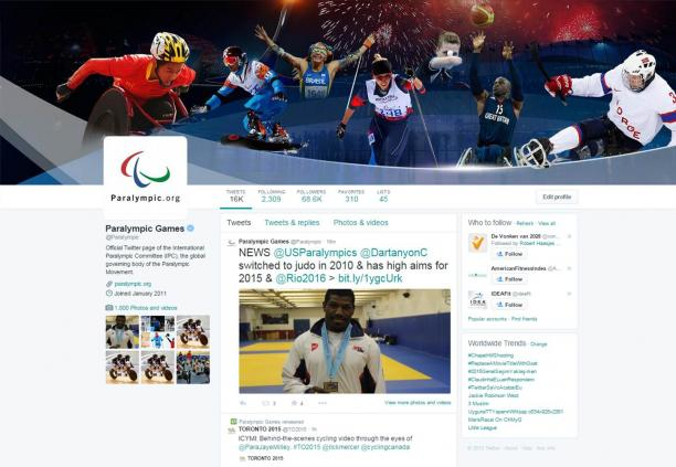 Screenshot Paralympic Twitter