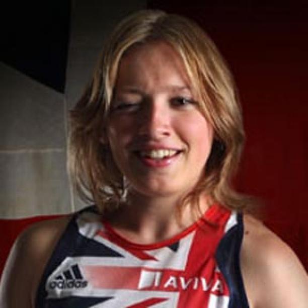 British sprinter Katrina Hart