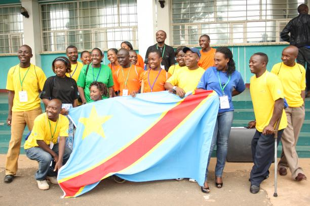 Athletes, coaches and youth co-ordinators from the Democratic Republic of Congo
