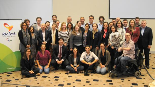 A group picture of World Academy of Sport's member in Rio