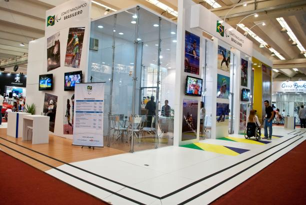 the Brazilian Paralympic Committee's stand