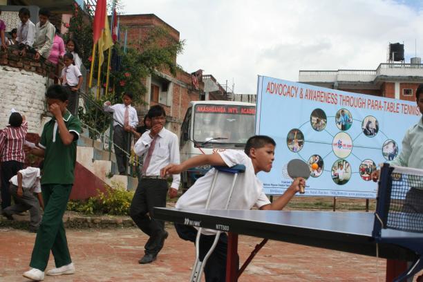 Nepal para-table tennis
