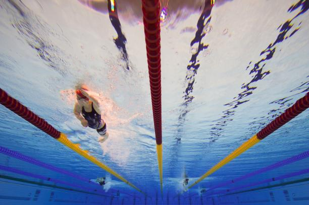 Under water shot, leads the pack