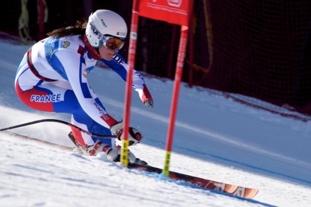 French skier Marie Bochet skied the downhill at Panorama 2015.