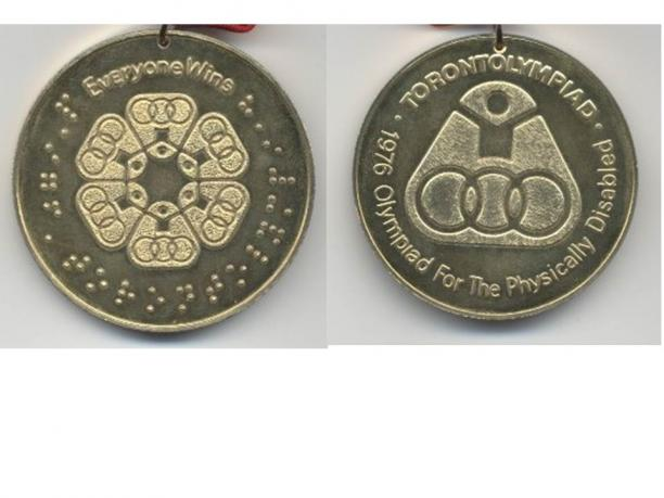 Toronto 1976 Paralympic medals
