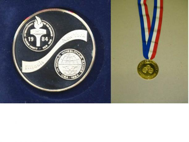 New York / Stoke Mandeville 1984 Paralympic medals