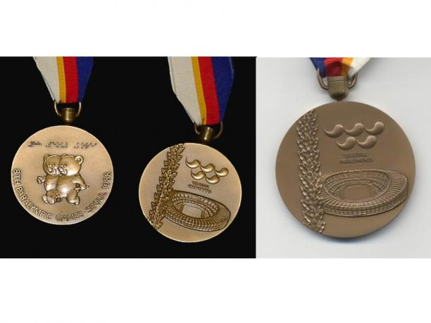 Seoul 1988 Paralympic medals