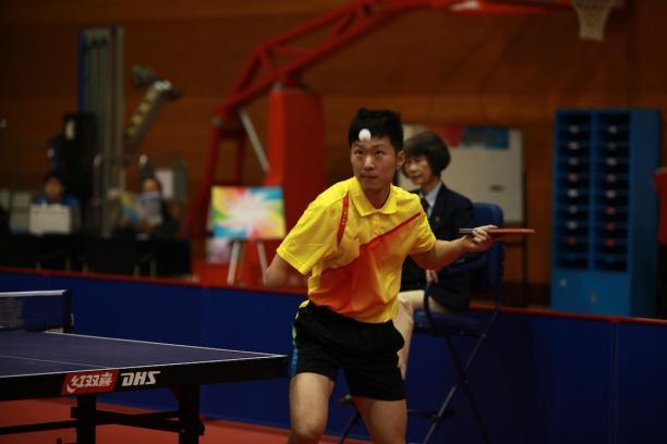 Chinese player Ge Yang takes a shot