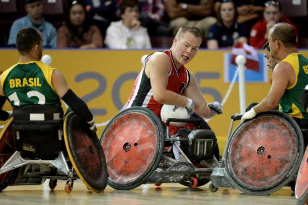 Canada's Zak Madell competes at the Toronto 2015 Parapan American Games.