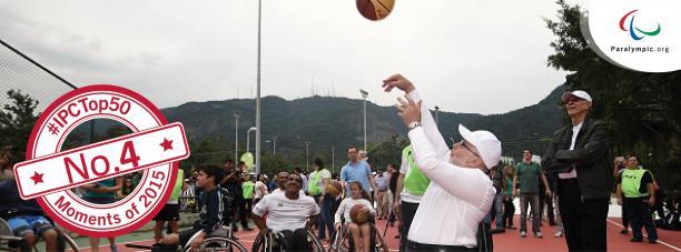 Sir Philip playing wheelchair basketball in Rio
