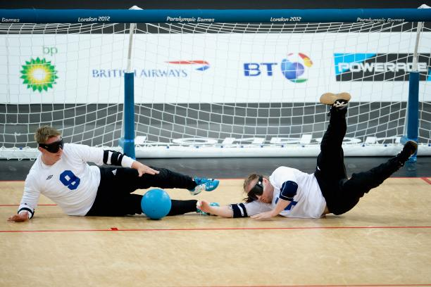 Finland's Petri Posio and Erkki Miinala block the ball during their gold-medal match at the London 2012 Paralympic Games. After winning Paralympic gold, the Finnish squad will now host the 2014 World Championships.