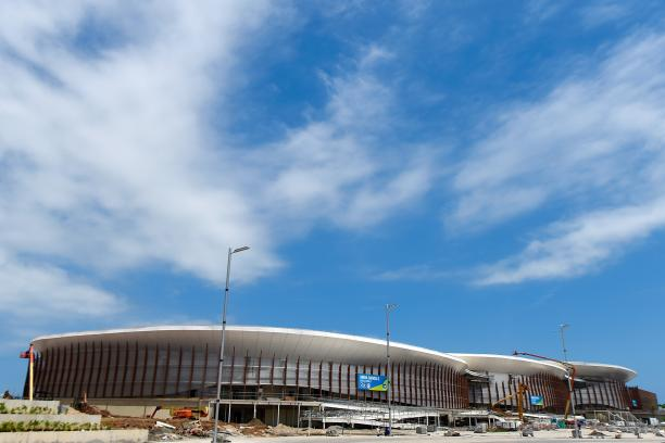 View of the construction site of the Carioca Arena 1,2 and 3