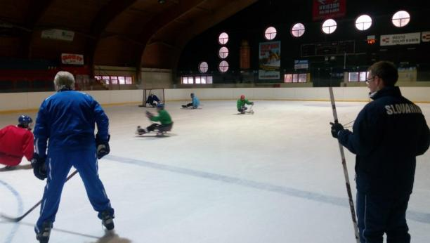 A group of aspiring players and their coaches gathered at Dolny Kubin's hockey stadium for four days of on and off-ice activities with world famous Canadian coach George Kingston.