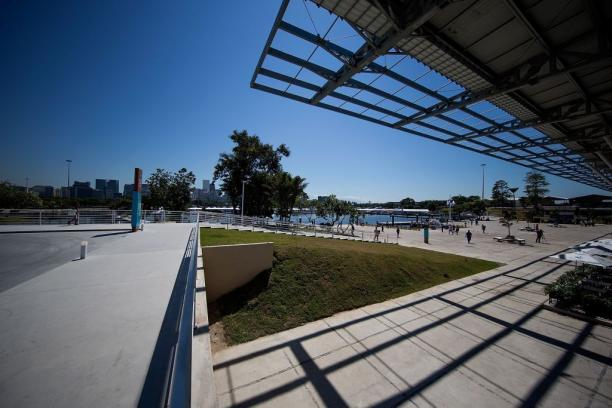 General view of the newly renovated Marina da Gloria which will host the sailing competitions of the Rio 2016 Olympic and Paralympic Games.