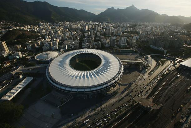 Aerial view on stadium