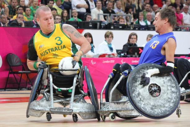Ryley Batt competes at the London 2012 Paralympic Games