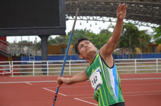 Boy with a javelin