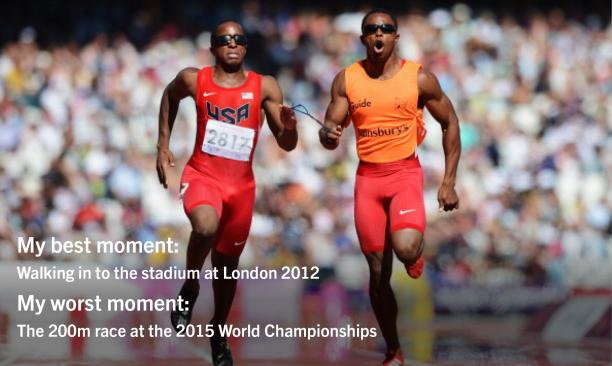 Two men sprinting on a track