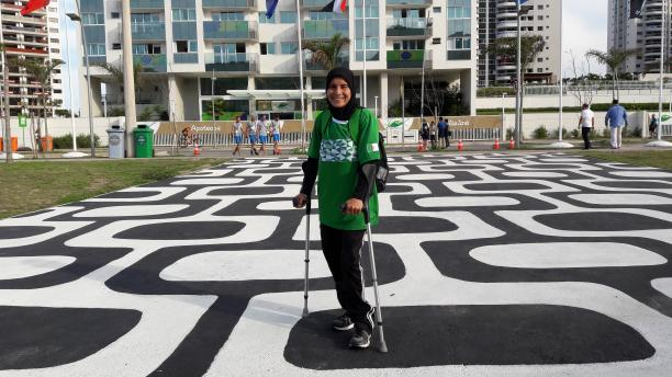 Algerian wheelchair basketball player Djamila Khemgani