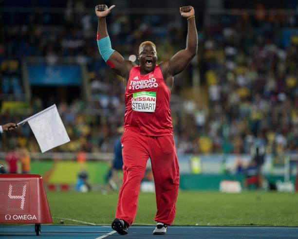 Akeem Stewart wins gold in the Men's Javelin Throw - F44 at Rio 2016