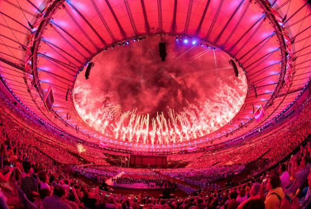 Maracana stadium packed with people for the Closing Ceremony of the Rio 2016 Paralympic Games.