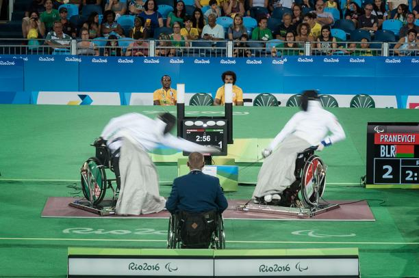 Wheelchair fencing at the Rio 2016 Paralympic Games.