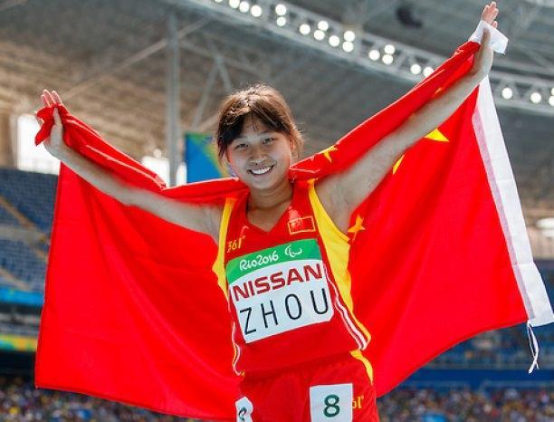 Xia Zhou CHN the Gold Medal winner in the Women's 200m