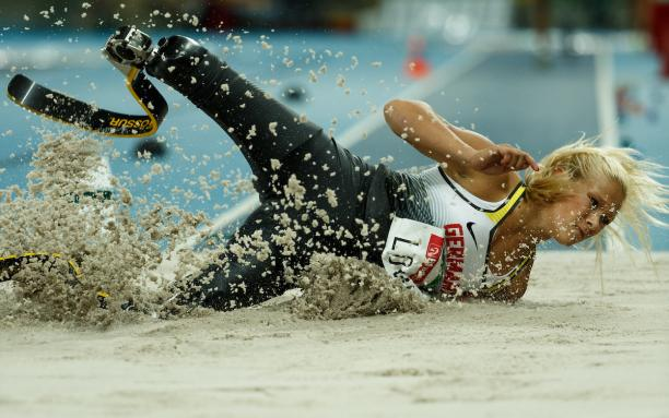 Vanessa Low GER competes in the Women's Long Jump - T42 Final at the Olympic Stadium.
