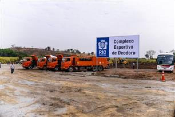 Trucks and diggers have moved in to start work on Deodoro Olympic Park