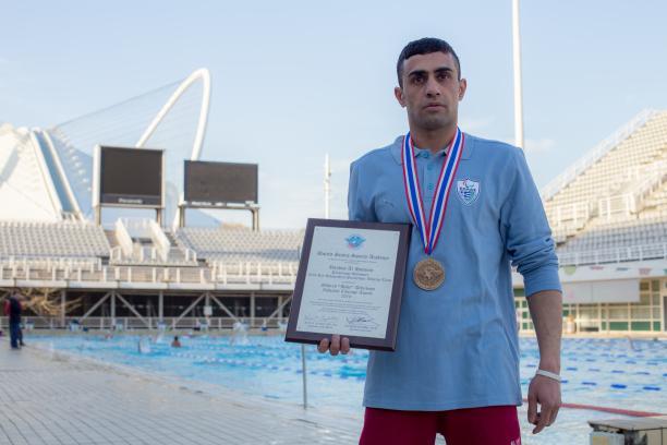 Ibrahim Al-Hussein is a refugee swimmer