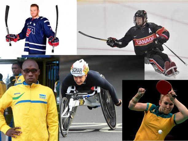 Collage of the five nominated athletes of the month