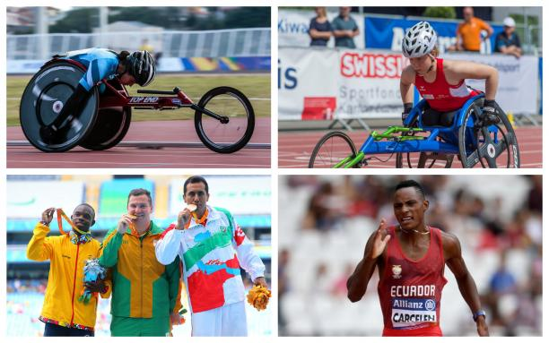 a group of para athletes compete in their sports
